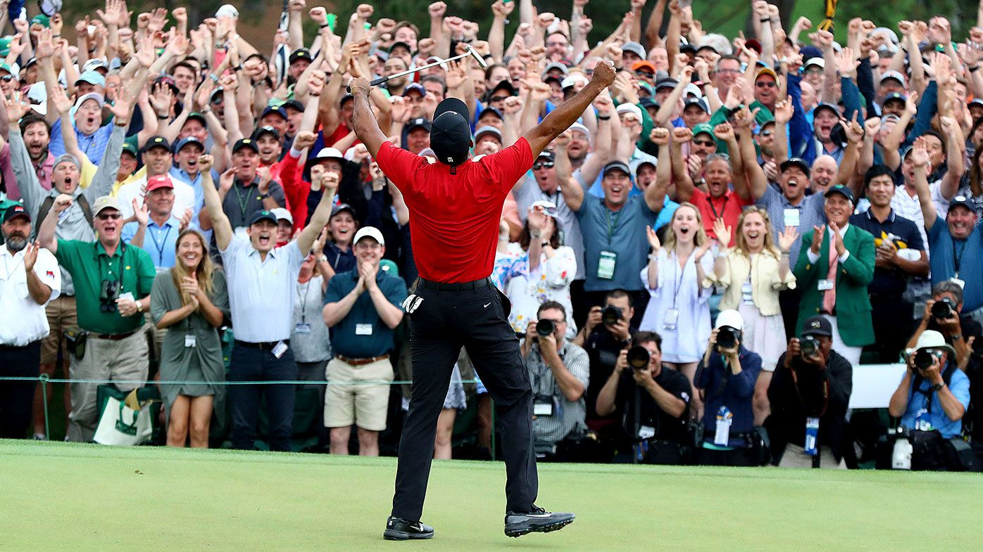 Tiger Woods at the 2019 US Masters.