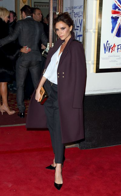 Victoria Beckham in head-to-toe Victoria Beckham at the premiere of the Spice Girls musical 'Viva Forever' in London, December 2012