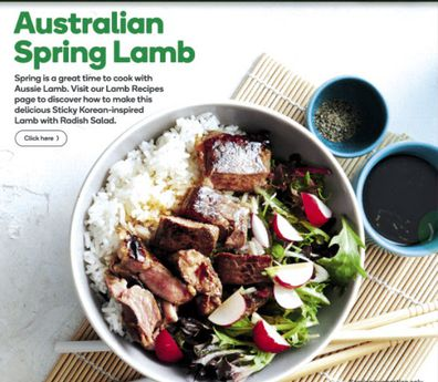 This week Woolworths are inspired by their Spring lamb.
