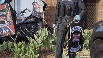 190515 WA Police Rebels outlaw motorcycle gang bikies raids drugs weapons cash crime news Australia