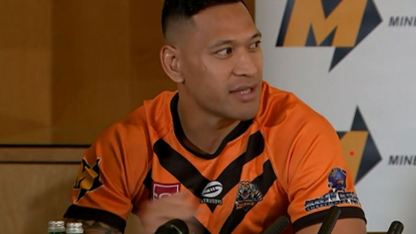 Israel Folau will play for Southport Tigers for the rest of 2021.