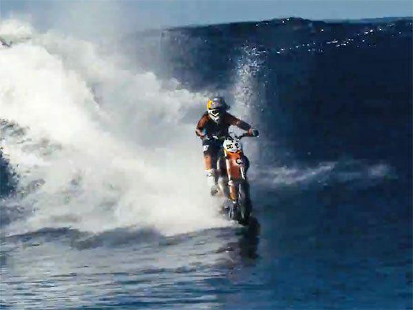 Monster wave 'spanked' me, reveals Aussie motocross daredevil Maddison