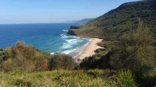 Views of the rugged coastline of Royal National Park.