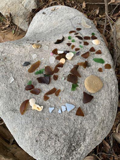 Jo Abi sea glass found at Bundeena Beach