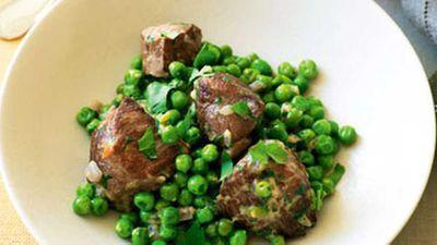 """Recipe: <a href=""""http://kitchen.nine.com.au/2016/05/19/13/03/lamb-with-peas-and-egg"""" target=""""_top"""">Lamb with peas and egg</a>"""