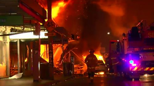 Emergency services rushed to the scene of the Rozelle fire. (9NEWS)