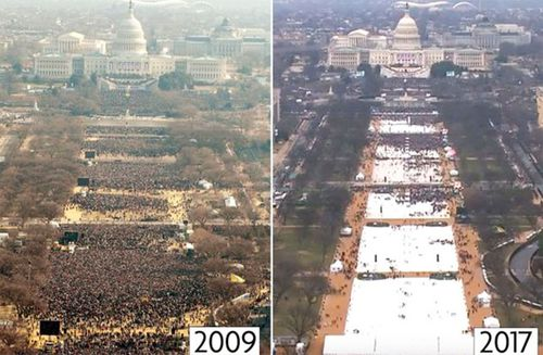The difference in attendance between the 2009 and 2017 Presidential Inaugurations.