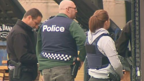 More than 40 properties were raided this morning. (9NEWS)