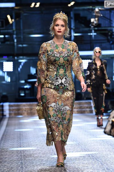 Lady Kitty Spencer at Dolce & Gabbana