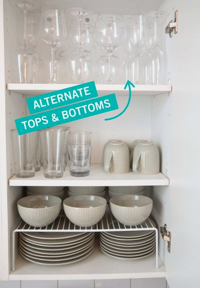 <strong>Double your wine glass storage</strong>