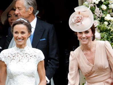 Pippa Middleton with Kate Middleton on her wedding day.