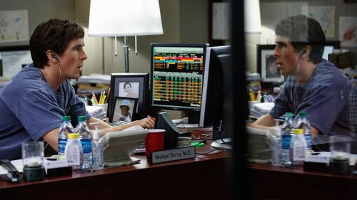 Christian Bale as Michael Burry, in the film 'The Big Short' (AAP).
