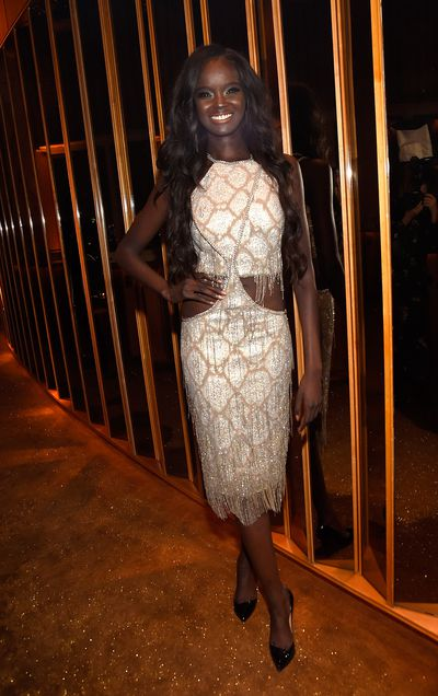 Australian-Sudanese model Duckie Thot at V Magazine's Intimate Dinner In Honour of Karl Lagerfeld, October 2017