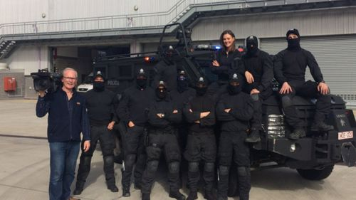 The special day gave young Legacy group members a look behind the action-packed scenes of the Victorian Special Operations Group. (@maddieslattery)