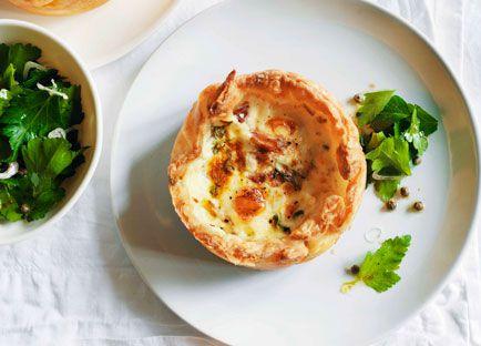 Quail egg and ham hock tarts