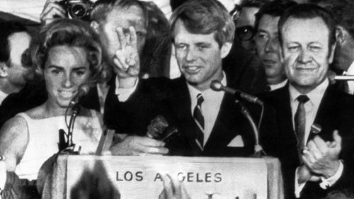 The 50th anniversary of the shooting death of former US senator Robert F. Kennedy has sparked the creation of a new documentary. Picture: AP.