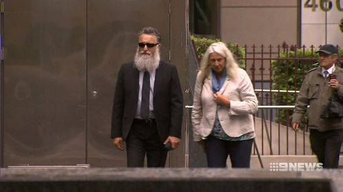 Jack Aston, right, outside court today.