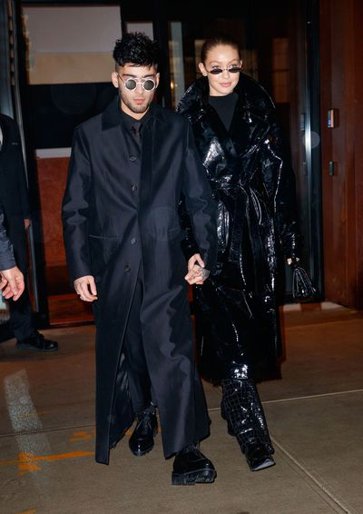 The Insta generation&rsquo;s model and musician power couple, Gigi Hadid and Zayn Malik, made a strong case for couple dressing in New York City in January.<br /> <br /> The pair, in town to celebrate Malik&rsquo;s 25th birthday, stepped out in all-black twinning looks that could very well have been inspired by sci-fi flick, <em>The Matrix.</em><br /> <br /> Rugged up in black trench coats with matching pants and micro sunglasses the duo looked dressed to rebel against the power of computers with Keanu Reeves. <br /> <br /> Malik channelled Neo&rsquo;s style with a Dsquared2 coat, Dior Homme sunglasses, Givenchy trousers and Prada boots. His supermodel girlfriend opted for a glossy PVC coat by Helmut Lang with black patent pants and matching glasses.<br />