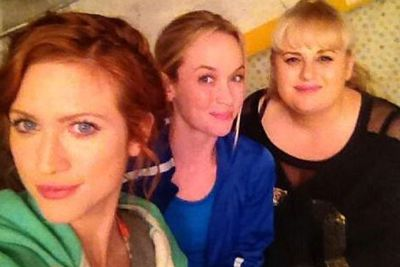 "@Brittanysnow: ""These blondies make me feel better about ""selfies""   #ies #pitchperfect2 @RebelWilson @kelleyjakle"""