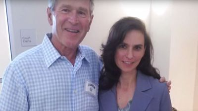 """Potential juror Sheri Coleman told The Dallas Morning News she enjoyed meeting Mr Bush.<br><br>""""He was very personable, very friendly; just 'hey I'm here to serve,' he asked questions and was very nice. I loved it."""" (Twitter)"""