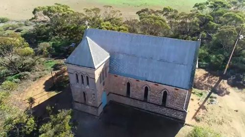 South Australia's St Mary of Bethany Anglican Church at Goyder has been broken into twice in a month. Picture: 9NEWS.