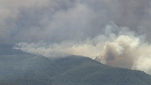 The fire, which has been burning for weeks, is threatening the Colo Heights area on the Hawkesbury.