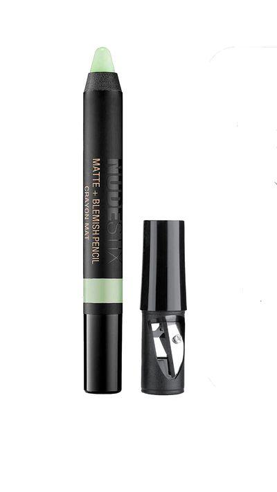 """<a href=""""http://www.sephora.com.au/products/nude-stix-matte-plus-belmish-pencil"""" target=""""_blank"""">Matte + Blemish Pencil. $38, Nudestix</a>"""