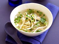 Chicken coriander noodle soup