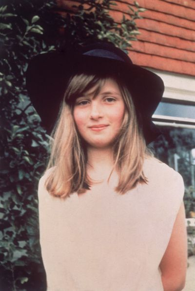 A baby-faced Diana Spencer during a summer holiday in Itchenor, West Sussex in 1971.
