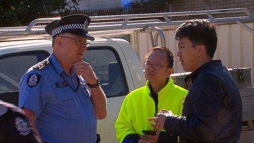 Police were called to a construction site in Perth's northwest this morning, after a subcontractor dispute turned ugly.