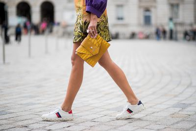 Mini skirt with sneakers? Heck yes!