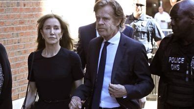 Felicity Huffman, William H Macy college admissions scandal court