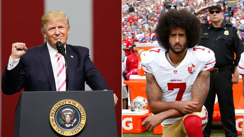 NFL: US President Donald Trump launches foul-mouthed tirade against anthem protesters