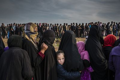 The Battle for Mosul - Lined Up for an Aid Distribution