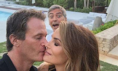 Rande Gerber, George Clooney, Cindy Crawford