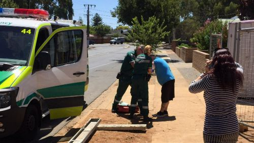 A man has been injured in a machete attack in Adelaide.