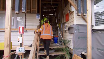 The Block's Sarah speaks about the 'aggressive' clash she had with a tradie on site