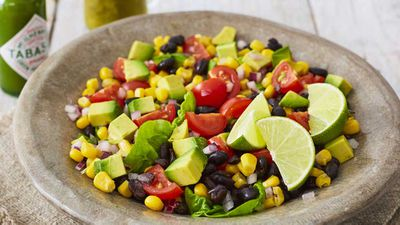 "Recipe: <a href=""http://kitchen.nine.com.au/2018/02/26/14/32/black-bean-summer-salad-recipe"" target=""_top"" draggable=""false"">Black bean summer salad</a>"
