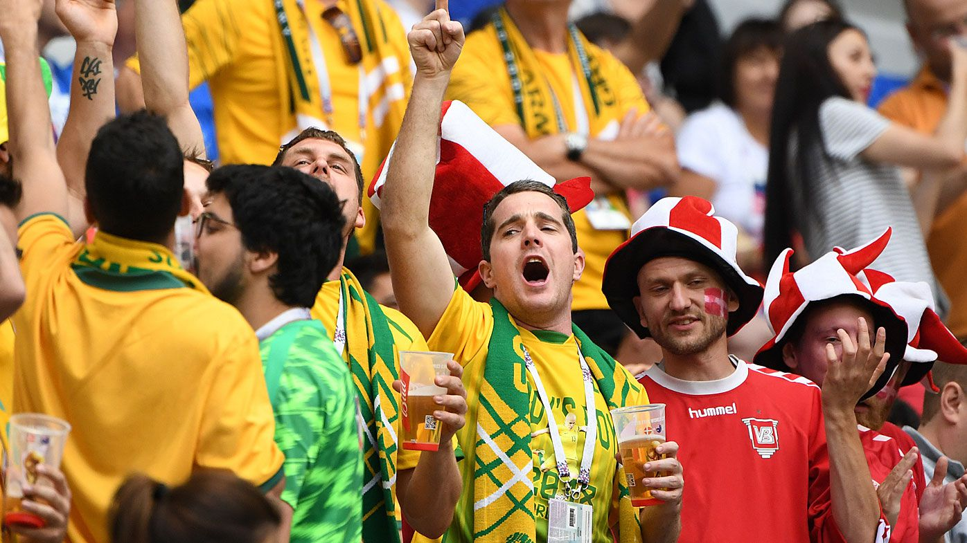Socceroos fans love beer