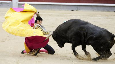 Matador David Mora got off to a bad start at the San Isidro Fair In Madrid. (All photos Getty)