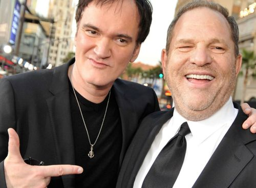 Harvey Weinstein with celebrated director Quentin Tarantino.