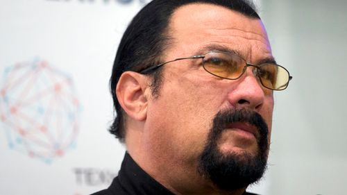 Actor Steven Seagal speaks at a news conference on September 22, 2015. (AAP)