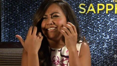 Watch: Sapphires' Jessica Mauboy does her 'crying face' - and spills on that Simon Cowell encounter