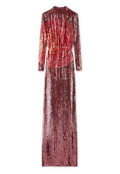"<a href=""http://www.tomford.com/embroidered-cowl-back-high-neck-gown/AB1714-SDE082.html"" target=""_blank"">Tom Ford</a> Embroidered cowel back red carpet gown, $15,850"