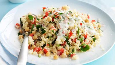Couscous tabbouleh with chickpeas