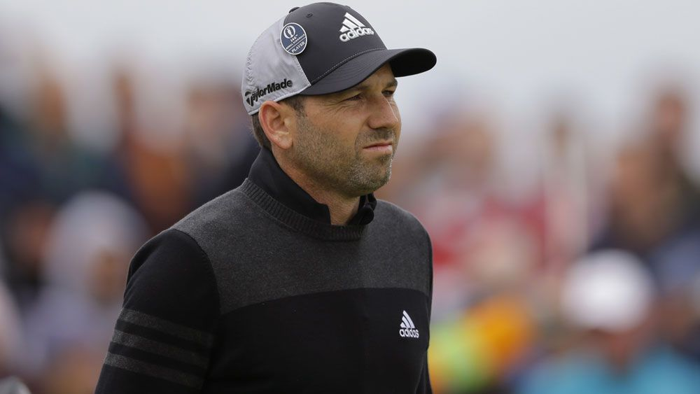 Sergio Garcia had an unhappy start to his second round at the British Open. (AAP)