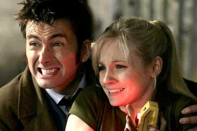 <B>The couple:</B> In season four of the resurrected <I>Doctor Who</I>, the Doctor (David Tennant) was cloned, resulting in a feisty daughter (Georgia Moffett). Not long after, the tabloids reported the two were a couple. What makes the hook-up even more twisted is that Moffett is the daughter of Peter Davison &#151; who played the Doctor in the '80s.