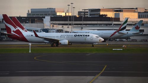 Qantas planes at Sydney airport,