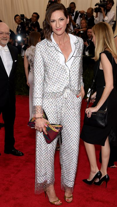 <p>Jenna Lyons in J.Crew at the 2015 Met Gala</p>