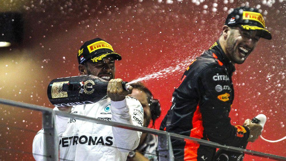 Mercedes' Lewis Hamilton wins Singapore Grand Prix with Australia's Red Bull's Daniel Ricciardo in second